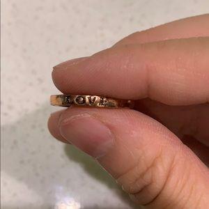 Vintage inspired copper ring
